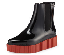 Anglomania Chelsea Boots AD Black/Brick Red- UK 3