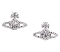 Grace Bas Relief Stud Earrings Crystal