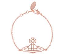 Thin Lines Flat Orb Bracelet Pink Gold