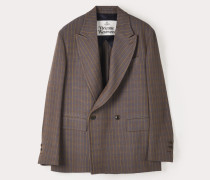 Relaxed Double Breasted Jacket Natural