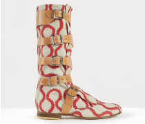 Pirate Boots Squiggle Red/White