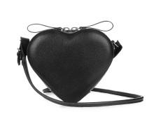 Anglomania Johanna Heart Crossbody Bag in Black