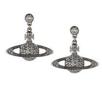Mini Bas Drop Earrings Black Diamond
