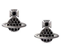 Tamia Cubic Zirconia Black Earrings