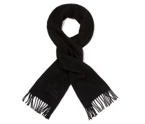 Classic Embroidered Scarf Black