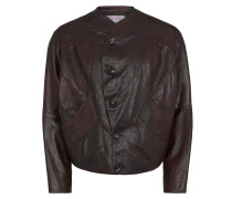 Pourpoint Leather Jacket Burgundy