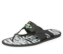 Vivienne Westwood Orb Enamelled Sandal Black