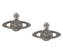 Mini Bas Relief Earrings Black Diamond