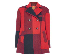 Red Stripe Pea Coat