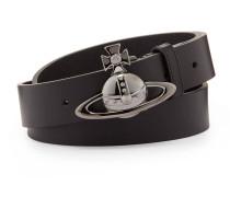 Orb Gunmetal Buckle Belt 82010003 Black