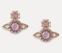 Latifah Earrings Pink Gold-Tone