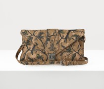 Brown Dolce Envelope Clutch Bird Of Paradise Print