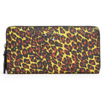 Anglomania Leopard Zip Round Wallet 390046 Yellow
