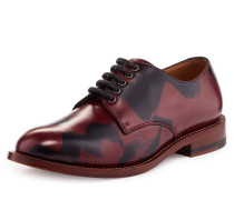 Utility Derby Lace Up Shoes Squiggle Red/Black UK 3