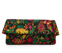 Anglomania Large Jungle Clutch Bag 190057 Black