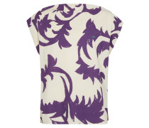 Square T-Shirt Purple Leaves/Tobacco Jersey