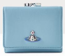 Emma Small Frame Wallet Blue