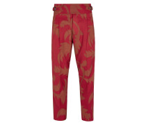 New Classic Trousers Red Print