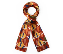 Gaia the Only One Double Scarf in Brick Red