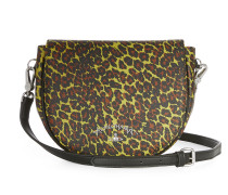 Anglomania Leopard Shoulder Bag 190039 Yellow H 18cm