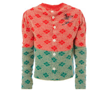 Squary Cardigan Red/Green/Natural Mix