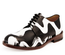 's Squiggle Utility Lace Up Shoes - Black/White UK 7