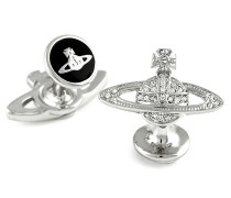 Vivienne Westwood Mini Bas Relief Crystal Cufflinks