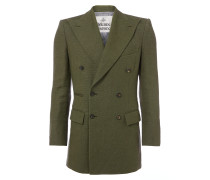 Double Breasted Jacket Olive Green