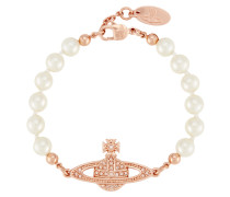 Mini Bas Relief Pearl Bracelet Rose Gold