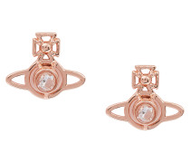 White Crystal Pink Gold Nora Earrings