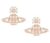 Harlequin Bas Relief Earrings Peach