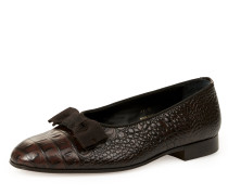 La Scala Court Slippers Chocolate Brown