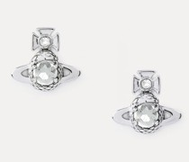 Ouroboros Small Earrings Silver-Tone