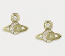 Dorina Bas Relief Earrings Gold-Tone