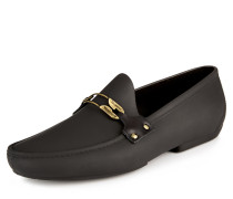 Black Safety Pin Moccasin