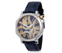 Blue Squiggle Swiss Watch