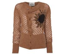 Cropped Sun Cardigan Ocra/Brown