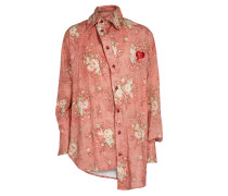 New Alcoholic Shirt Red Faded Old Roses