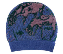 Knitted Purple Deer Beanie