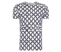 Squiggle T-Shirt White/Blue