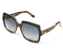 Black Horn Frame Sunglasses VW50104