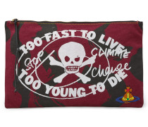 Anglomania Too Fast To Live Zip Pouch Maroon
