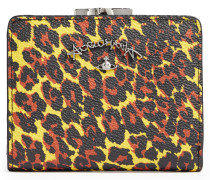 Anglomania Leopard Wallet With Coin Pocket Yellow