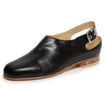 Black Pirate Slingback Shoes