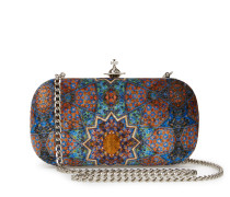 Parma Clutch Viscose/Silk Bag in Blue/Orange