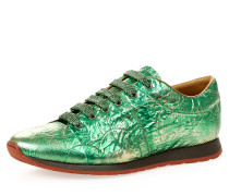 Men's Monkey Low Top Trainers Green Tin Foil UK 6