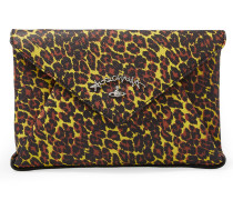 Anglomania Leopard Envelope Clutch Bag 190042 Yellow