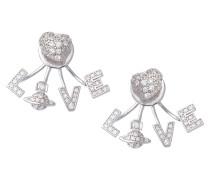 Silver Agatha Earrings