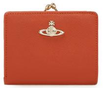 Opio Saffiano Orange Leather Wallet