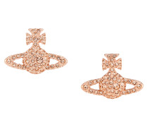 Grace Bas Relief Stud Earrings Light Peach